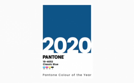 Pantone colour of the year 2020 Classic Blue holder v2