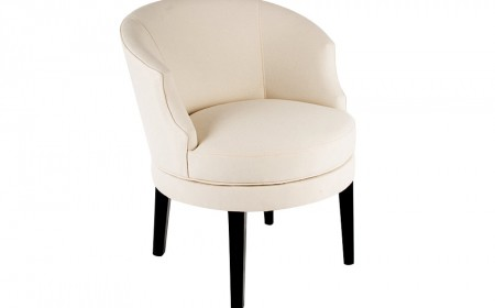 Curved arm swivel armchair 2
