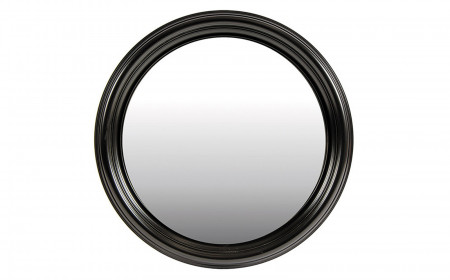Black painted framed mirror