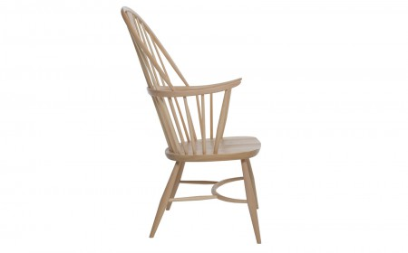 ercol Originals lounge chair 0000s 0000s 0000 911 Chairmakerschair CutoutSide ELM Beech DM web