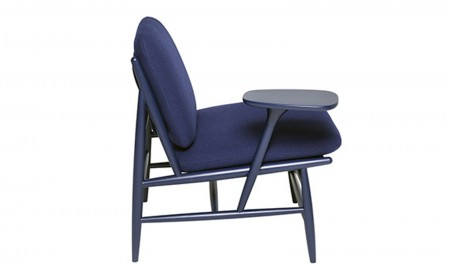 Ercol Von Work chair 0000s 0000s 0000 Von 427TR work chair right cutoutSide 3 Ash IN Blue