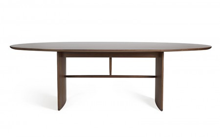 Ercol Pennon table 0000s 0000s 0000 Pennon 1815 large walnut table cutoutFront 1 Walnut WN