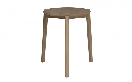 Ercol Svelto round stacking stool 0000s 0000s 0000 136 SveltoRoundStackingStool CutoutFront Oak DM web copy