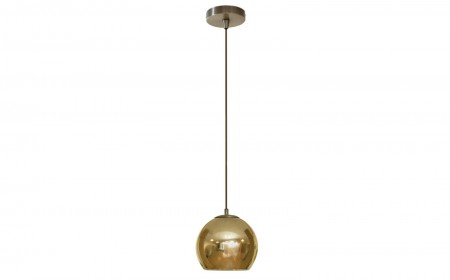 Contardi Kubric Pendant light 0007s 0000s 0000 KUBRIC SO LARGE CANOPY POLISHED BRONZE WITH GOLD INSIDE