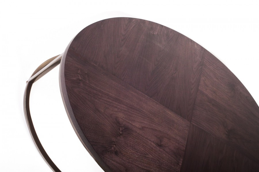 Oval coffee table quartered top detail copy